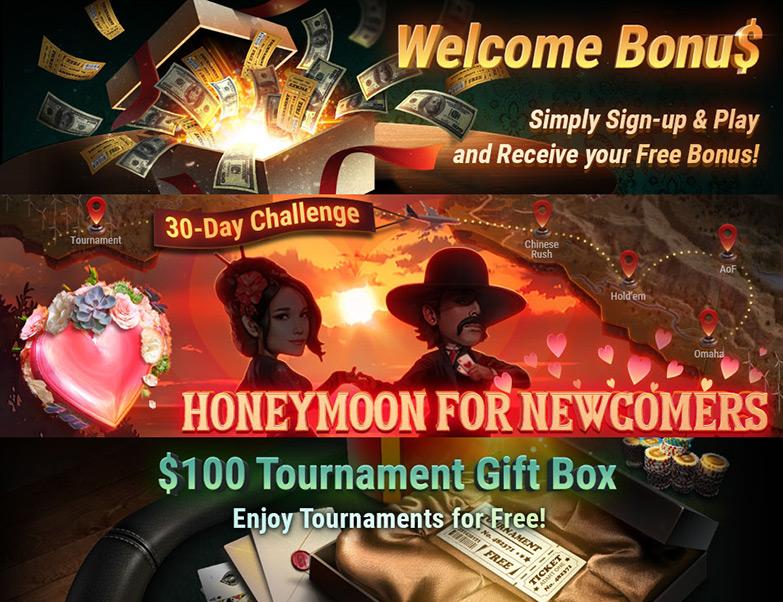 Щедрые бонусы новичкам для игры в руме GG PokerOK.